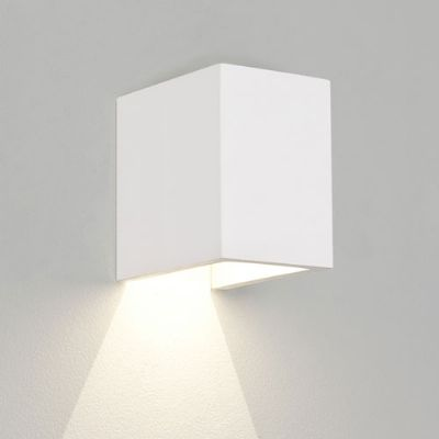 Parma 100 LED 2700k Cube White Plaster Up or Down Wall Light - ASTRO 1187016 (7606)